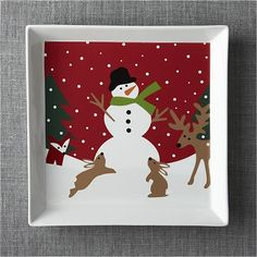 Snow Day Serving Platter | Crate and Barrel
