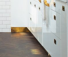 brass baseboards...