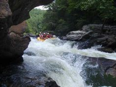 Chatooga River rafting - including a free ride through the hydraulic pull under the water.  Scary and thrilling!