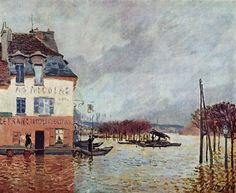 Alfred Sisley. L'inondation à Port Marly, 1876