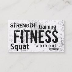 personal training business cards