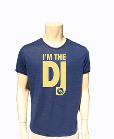 Men Top Shirt Dj Top- Music Shirt-Cotton Bland Thin Fabric Size M Gift For Him by BANKUSSI on Etsy