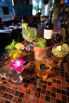 Craft Cocktails at Mestizo Restaurant to cool you down. Mexican Cocktails, Craft Cocktails, Restaurant, Table Decorations, Cool Stuff, Crafts, Home Decor, Manualidades, Decoration Home