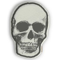 Skull Pillow White now featured on Fab.