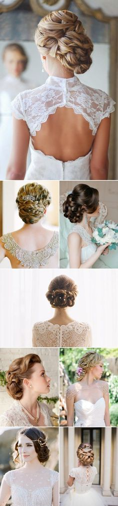 braided updo hairstyles for wedding / http://www.himisspuff.com/bridal-wedding-hairstyles-for-long-hair/22/