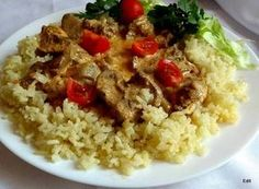 Érdekel a receptje? Kattints a képre! Hungarian Recipes, Hungarian Food, Fried Rice, Chicken Recipes, Grains, Healthy Living, Food And Drink, Lunch, Dishes