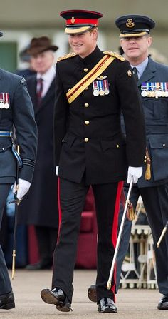 Prince Harry presents No26 Squadron with a new Standard at RAF Honington on 13.11.2014 in Bury St Edmunds, England
