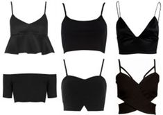 Crop tops black
