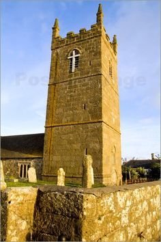 St Sennen Church, founded 520 AD, near Land's End on the southernmost tip of England in Cornwall, uncredited