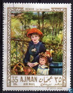 Postage Stamps - Ajman - Paintings