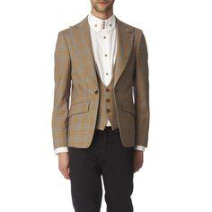 Vivienne Westwood Tartan Waistcoat Jacket in Beige for Men (camel) | Lyst