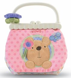 Fisher Price Little Buttons Soft Activity Purse. Little Buttons - Soft Activity Purse. Flip the pages for a peek-a-boo mirror, crinkly textures and fun surprises.