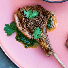 <p>You can make the charmoula a day ahead and chill. Bring to room temperature to serve. A rack of lamb may give you more chops than you need. Save extras to cook after your guests leave--post-party treat!</p>