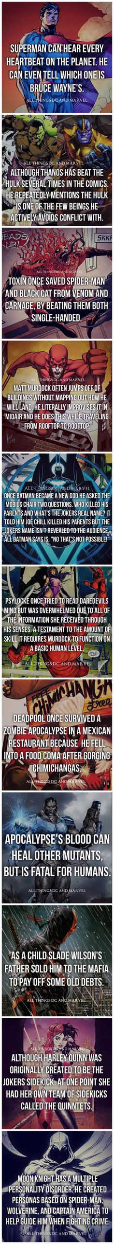 Cool superhero facts. Love stuff like this!