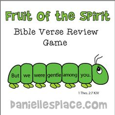 Fruit of the Spirit Bible Verse Review Game for Sunday School from ww.daniellesplace.com where learning is fun!