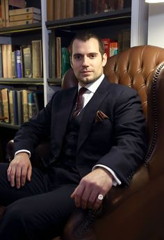 Henry Cavill with new butch hair style.