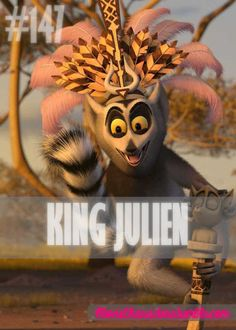 KING JULIEN  Played By: Sacha Baron Cohen (Voice) Film: Madagascar / Madagascar: Escape 2 Africa / Madagascar 3: Europes Most Wanted Year: 2005 / 2008 / 2012 Penguin Animals, Sacha Baron Cohen, Movie Characters, Africa, King, Halloween, Penguins, Cute, Wallpapers