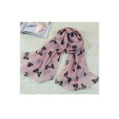 Pink Bow Print Chiffon Scarf (450 RUB) ❤ liked on Polyvore featuring accessories, scarves, pink, print scarves, chiffon shawl, chiffon scarves, patterned scarves and pink scarves
