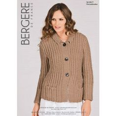 Jacket With Tailored Collar in Bergere de France Pure Nature (339.77) €3.79