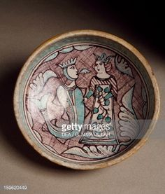 Foto stock : Decorated bowl, ceramic, Orvieto manufacture, Italy, 14th century