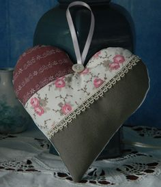 Etsy - Shop for handmade, vintage, custom, and unique gifts for everyone Patchwork Heart, Fabric Hearts, Christmas Hearts, Lavender Bags, Heart Pillow, Heart Crafts, Fire Heart, Hanging Hearts, Heart Ornament