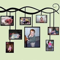 Absolutely awesome idea for photo hanging!!
