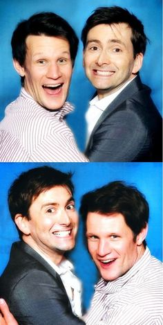 Now, this is adorable! David Tennant and Matt Smith