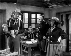 Still of John Wayne, Mildred Natwick and George O'Brien in She Wore a Yellow Ribbon (1949)