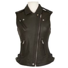 Iro Mert moto vest. $1,165. www.luxagogo.com.