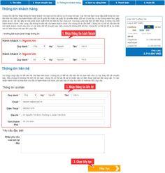 Cần nhập đầy đủ thông tin hành khách và thông tin liên hệ