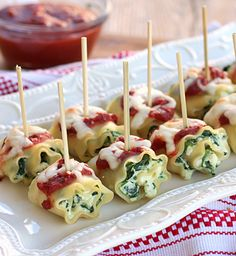 Mini Spinach Lasagna Roll Ups. My whole family loved these.