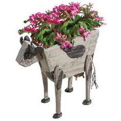 Rustic Cow from Reclaimed Wood