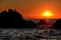 Stromboli's sunset, coast of Italy