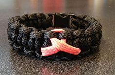 Breast cancer para cord bracelet