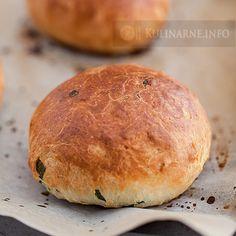 Bułeczki ze szczypiorkiem i bazylią Hamburger, Bakery, Food And Drink, Bread, Buns, Polish, Country, Vitreous Enamel, Rural Area