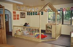 Block Platform for Toddlers | Naturally Wood by Design. Child Care Furniture and Design