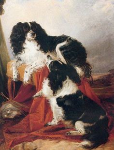 The Cavalier's Pets by Sir Edwin Landseer, 1845
