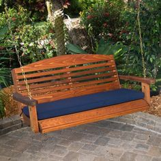 Have to have it. Great American Woodies Red Cedar Classic Swing with Optional Cushion $219.98