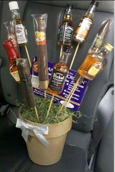 Favorite liquor, cigars.