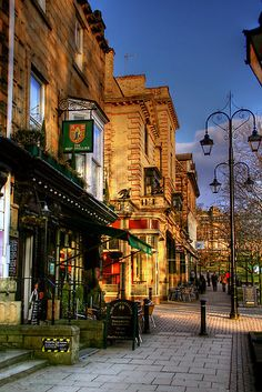 Late Afternoon in Montpellier Parade, Harrogate, Yorkshire, England by Christine Smith