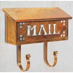America's Finest Mailboxes Pasadena Wall Mounted Mailbox Finish: Textured Black, Glass Color: Gold Iridescent