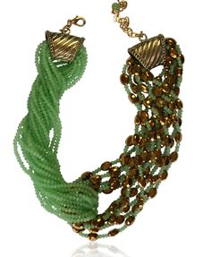 Francoise Montague Green Twist Necklace