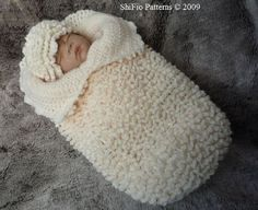 Ruffled Cocoon Papoose Baby Crochet Pattern