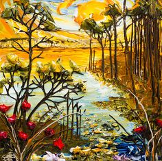 36x36 Lakescape By: Justin Gaffrey