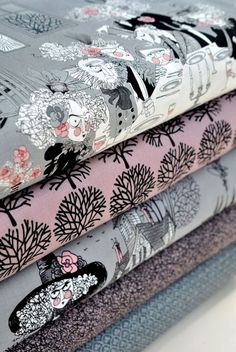from Alexander Henry fabrics: The Ghastlies.  Great for Halloween!