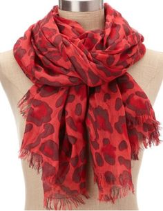 leapord print scarf, $7.50