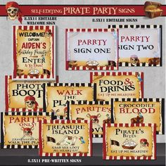 nstant Download! SELF-EDITING Pirate Party Favor Tags-Pirate Birthday-Pirate Captain Birthday-Baby Shower-First Pirate-Treasure-First Birthday-AnyAge-A178-5 ☛Self-Edit on your computer(PC or Mac) with the latest version of FREE Adobe Acrobat READER DC (PDF) by yourself. #gentlemanpirateclub #partyflavors #piratethemed #etsy #pirates Pirate Party Favors, Party Favor Tags, Pirate Food, Pirate Theme, Adobe Acrobat, Pirate Treasure, Pirate Birthday, Treasure Island, Party Signs