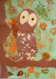 "From exhibit ""Collage Owl with stencil - grade 2"" by Steve916"