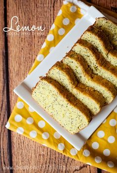lemon poppy seed bread. Great to snack on or deliver to your neighbors!