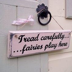 Personalised Wood Fairy Sign